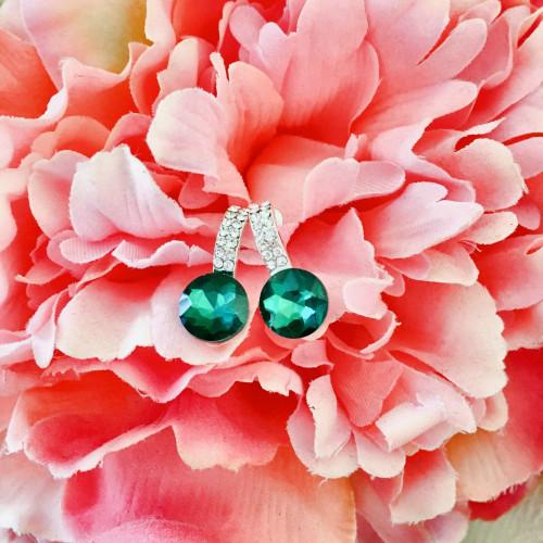 Grezni auskari - smaragda krāsa
