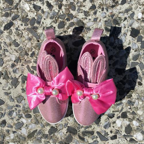 """Bērnu balerīnas ar """"zaķa ausīm"""" - rozā"""
