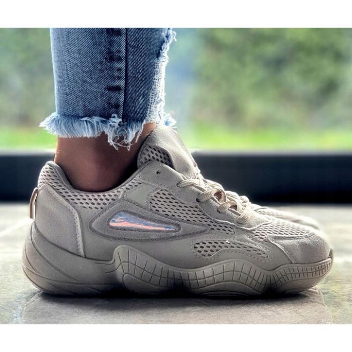 Bēši sporta apavi ar biezu zoli