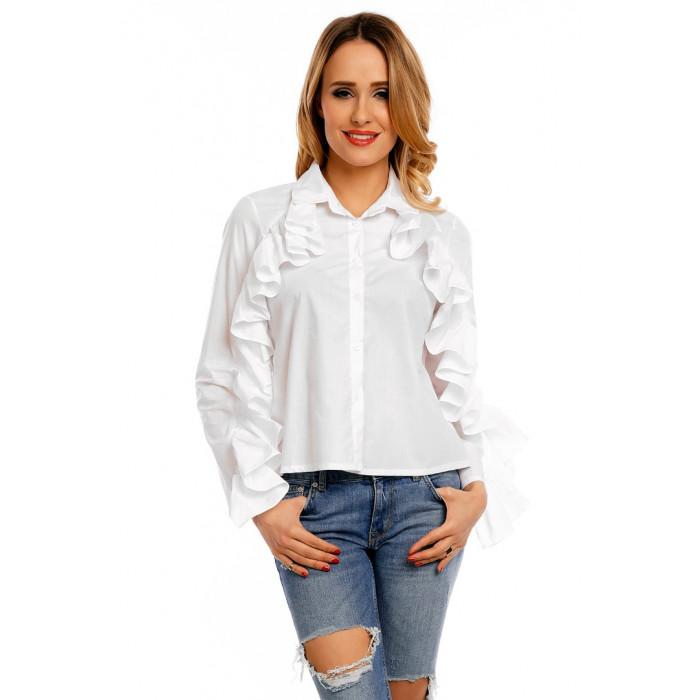 Balts krekls ar volāniem