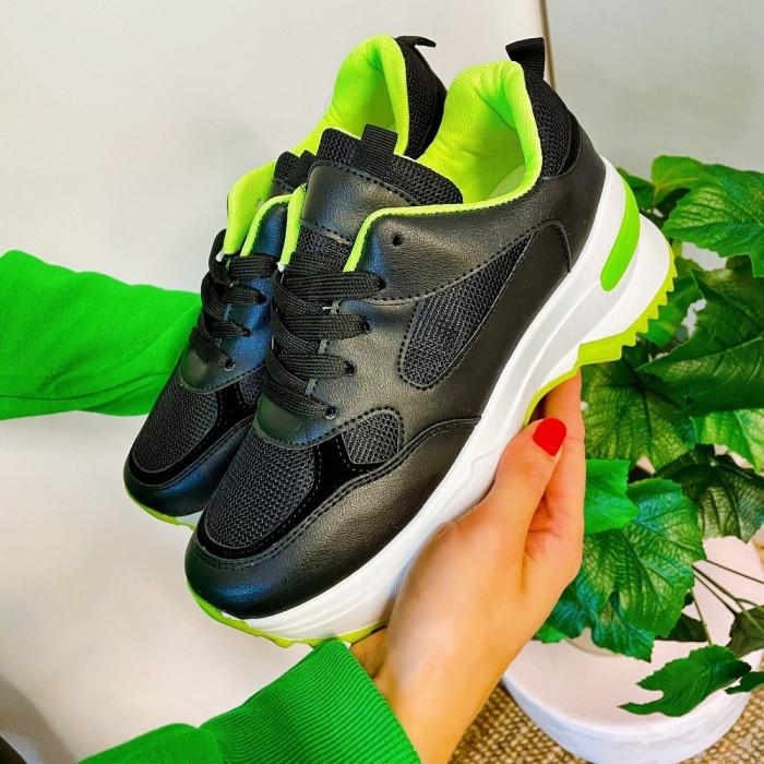 Platformas sporta apavi - melni