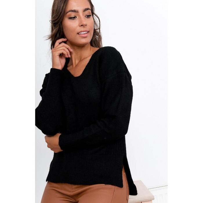 Džemperis (70% vilna) - melns