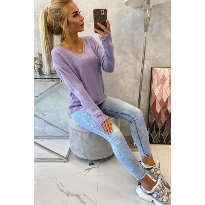 Džemperis (70% vilna) - lavandas