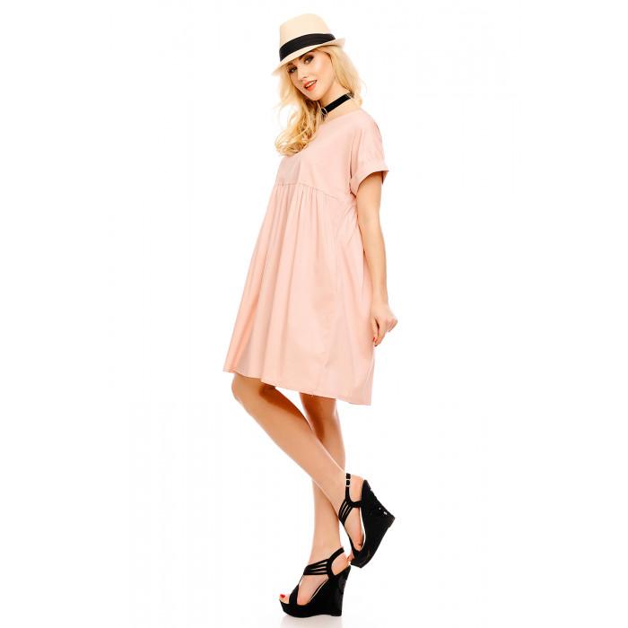 Brīva piegriezuma kleita - pūdera rozā