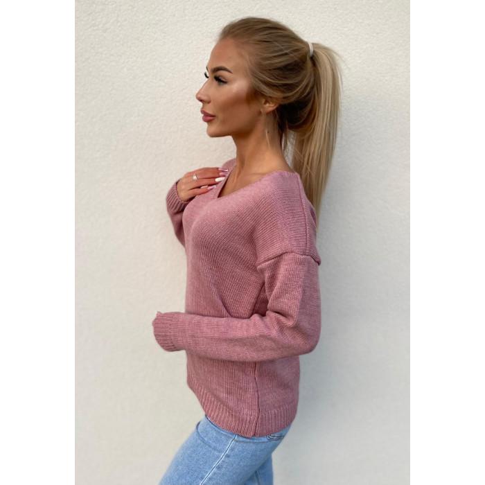 Džemperis (70% vilna) - rozā