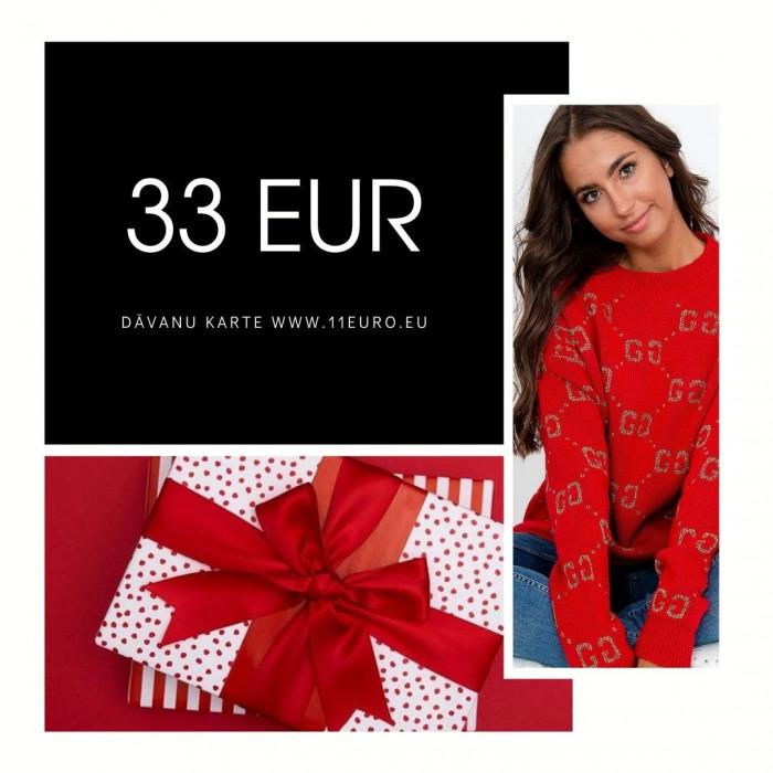 Dāvanu karte 33 EUR vērtībā