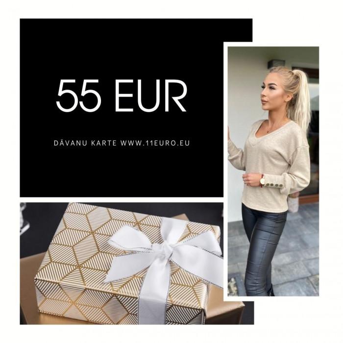 Dāvanu karte 55 EUR vērtībā