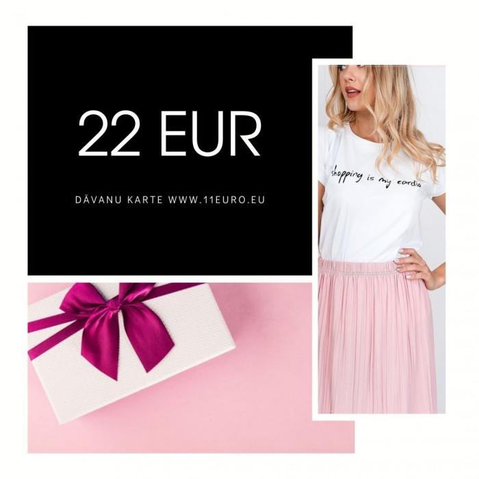 Dāvanu karte 22 EUR vērtībā