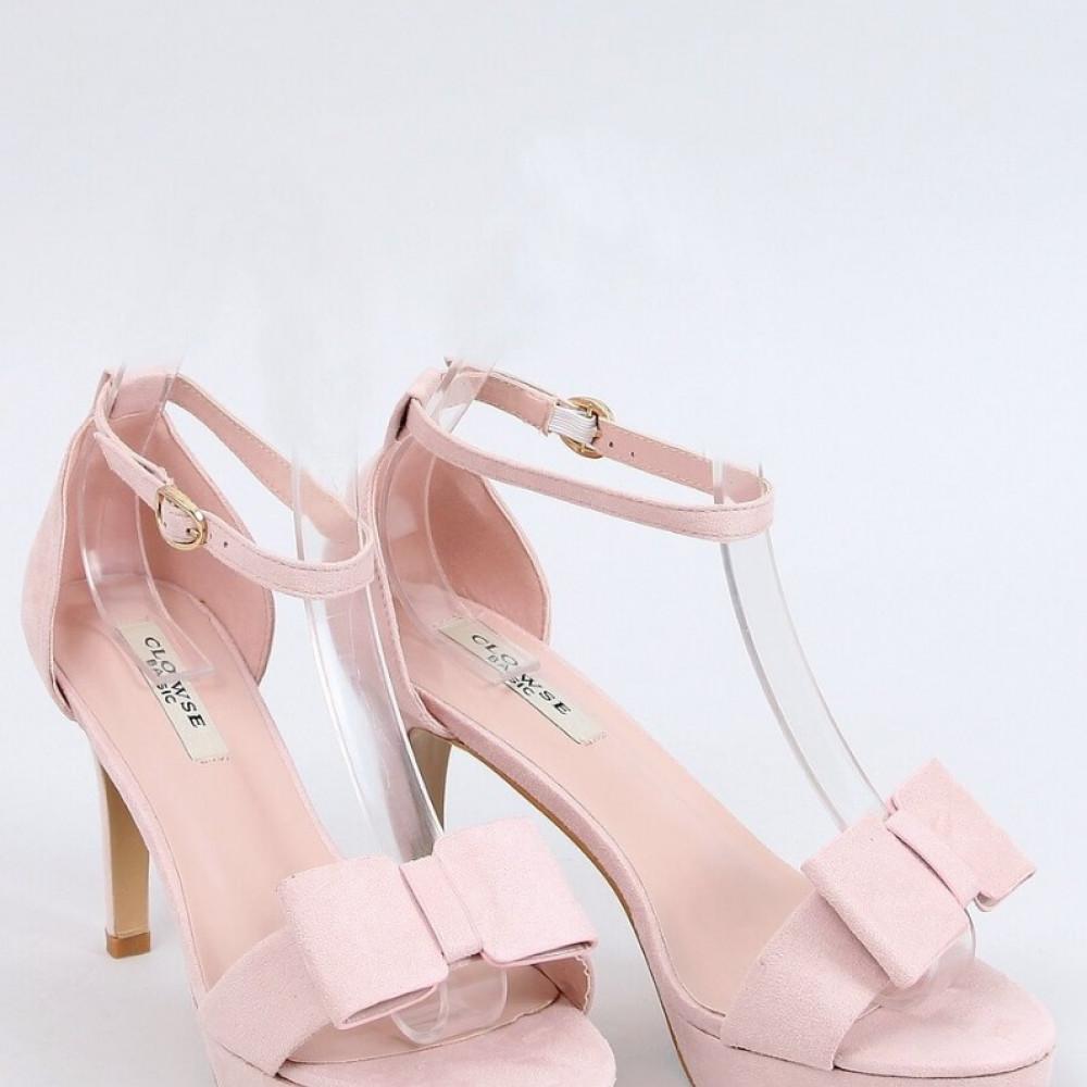 Augstpapēžu sandales ar banti - pūdera