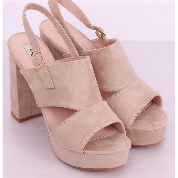 Augstpapēžu sandales - pūdera rozā