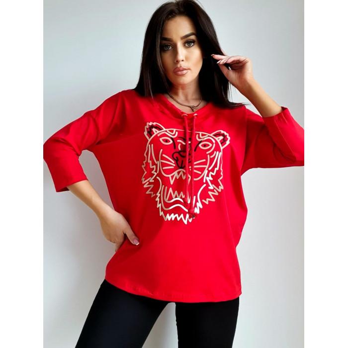 Brīvā laika džemperis - sarkans