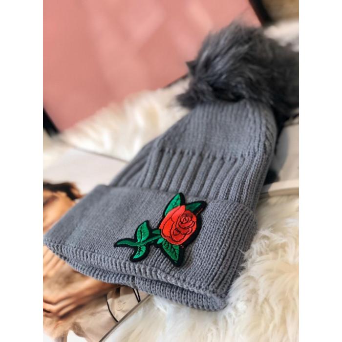 Cepure ar aplikāciju - pelēka