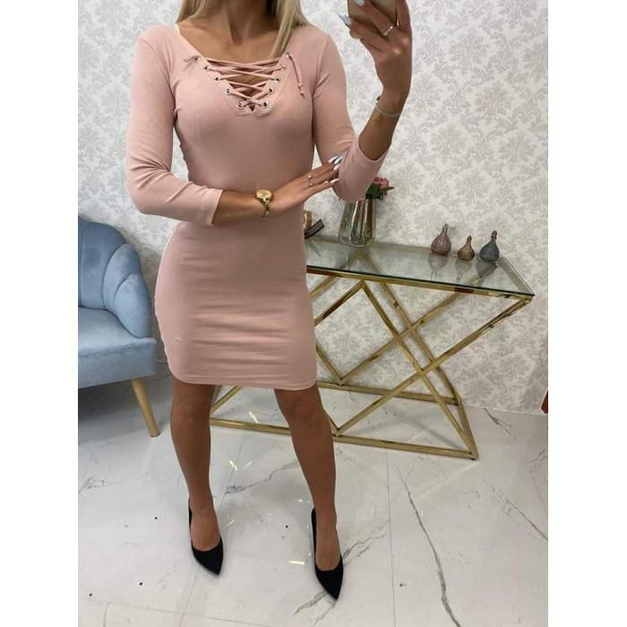 Kleita ar sējumu - rozā