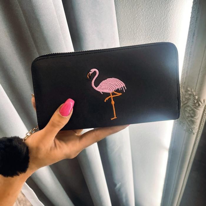 Naudas maks ar flamingo un bumbuli