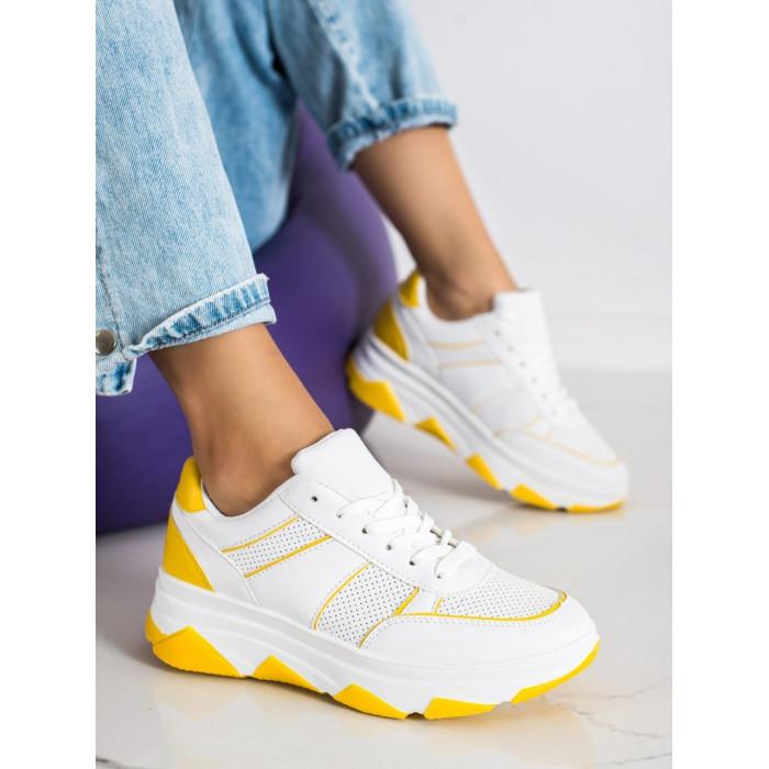 Platformas sporta apavi balti / dzelteni