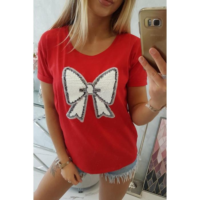 T-krekls ar banti - sarkans