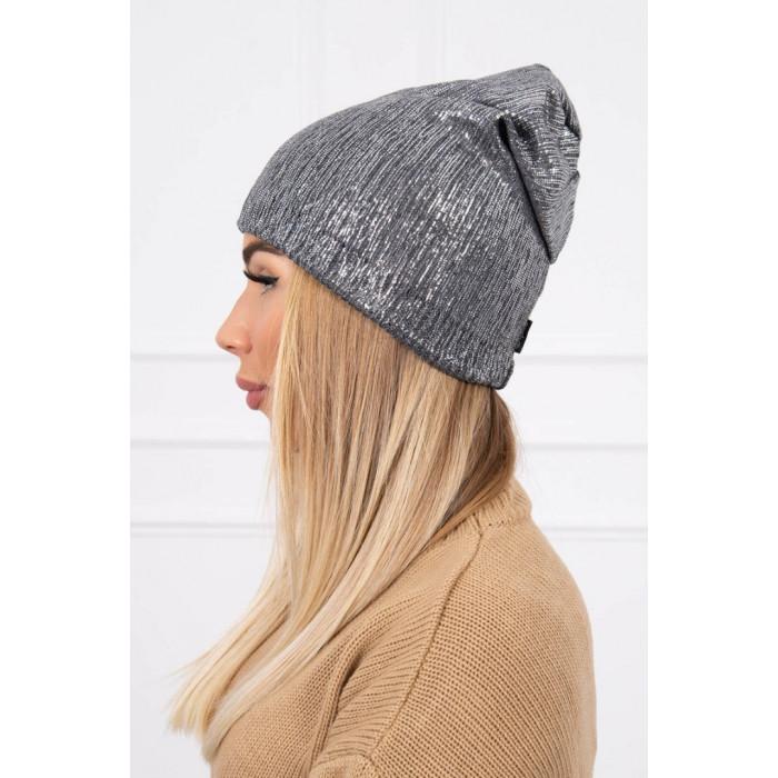 Cepure ar spīdumu - pelēka
