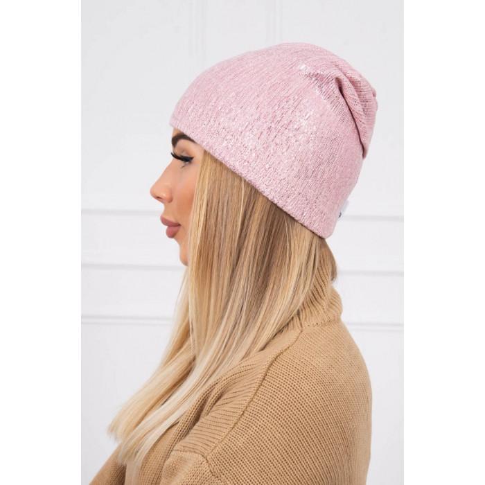 Cepure ar spīdumu - rozā