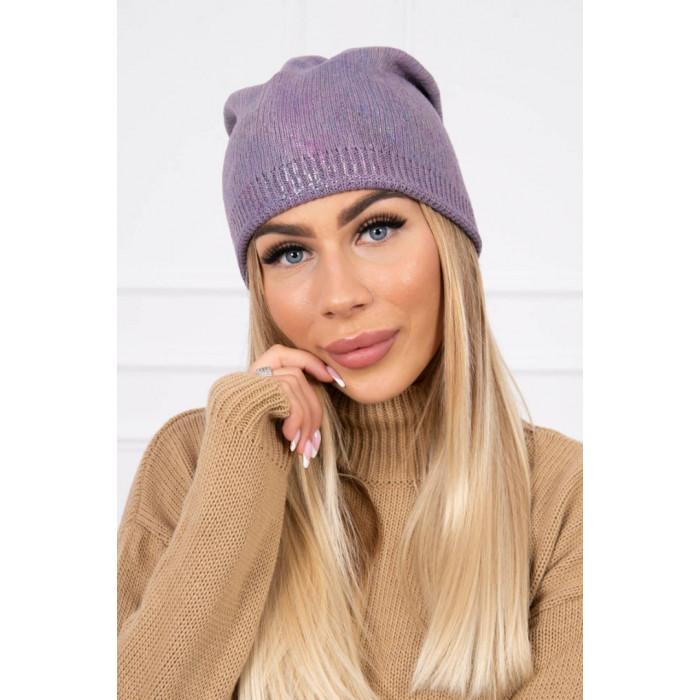 Cepure ar spīdumu - lillā