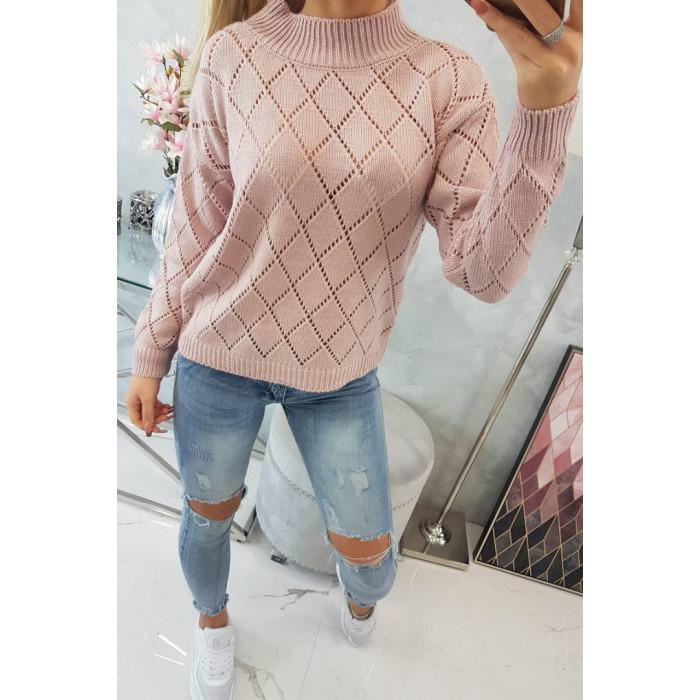 Džemperis ar augstu apkakli (70% vilna)