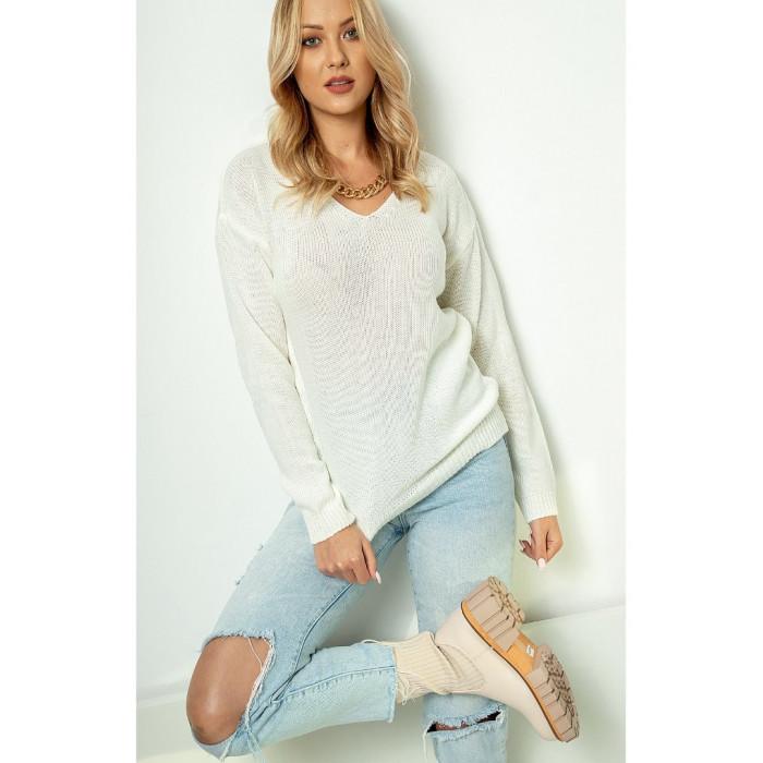 Džemperis (70% vilna) - balts